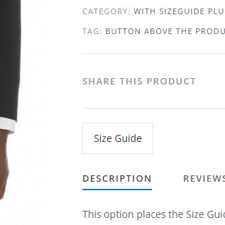 Button above the product title