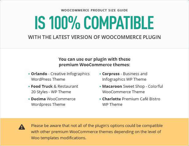 Compatibilidade do guia de tamanho